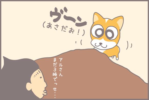 コーギーアルんち:目覚ましアル